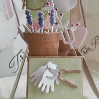 Pop Up Box Card Gardening Blank