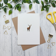 Stag Blank A6 Greeting Card