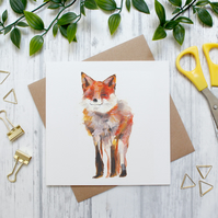 Red Fox, British Countryside and Wildlife, Blank Greeting Card