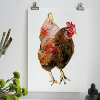 Chicken Digital A4 Art Print