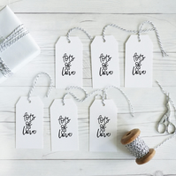 Lots of Love, hand lettered gift tags, set of 12