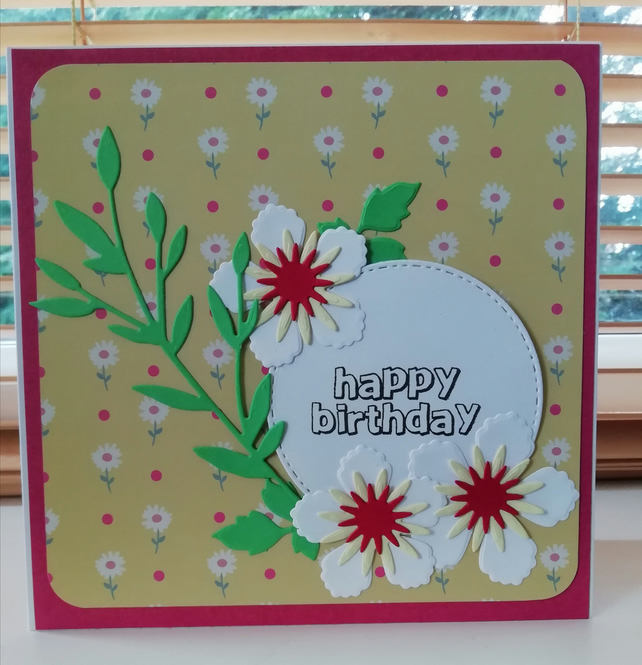 Excellent Handmade Birthday Card For Mum Card For Sister Folksy Funny Birthday Cards Online Overcheapnameinfo