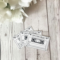 10x Personalised Cassette Song Request Cards - Wedding Playlist Cards