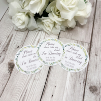 10x Personalised Foliage Please Don't Take My Drink Thin Coaster - Wedding Tags