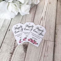 10x Happily Ever After Wedding Favour Tags - Thank You Tags - Wedding Tags