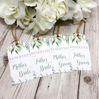 Foliage Wedding Reservation Cards - Seat Signs - Wedding Signs - Floral Wedding