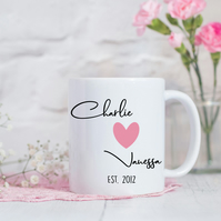 Personalised Couple Name Mug - Valentine's Day - Anniversary Gift - Couple Gift