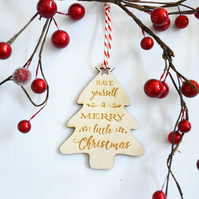 Christmas Tree Decoration - Have Yourself A Merry Little Christmas, Christmas De