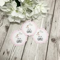 10x Baby Shower Favour Tags - Baby Girl - Favour Tags - New Baby