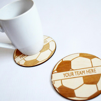 Football Coaster - Football Gift - Wooden Coaster - Home Decor