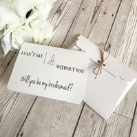Will You Be My Bridesmaid Card - Bridesmaid - Maid of Honour - Wedding Cards