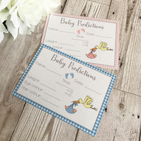 Baby Shower Prediction Cards - Baby Shower Game - Baby Boy - Baby Girl