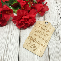 Valentine's Day Tag - Valentine's Gift - Wooden Gift - His - Hers