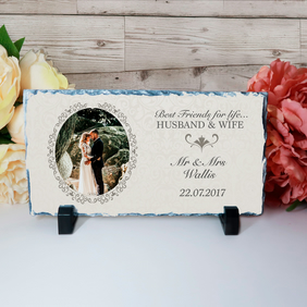 Wedding Rock Slate - Personalised Wedding Plaque - Anniversary Plaque - Annivers