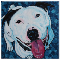 Custom colourful contemporary pet portraits - dogs, cats, small furries