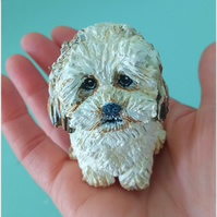 Custom pet sculpture, polymer clay, made to order, cake topper