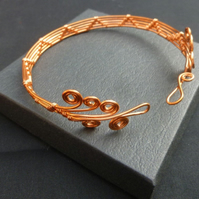 Copper Wire Wrapped Healing Bangle