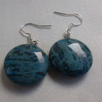 Blue Crazy Lace Agate Earrings, 925 Sterling Silver, Gift for Mum, Bestie Gift