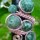 Green Jade Ring, Adjustable Ring, Semi Precious Ring, Gift for Mum,