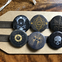 Tarot Dark - Pin Badge Set or Magnet Set