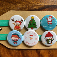 Christmas - Pin Badge Set or Magnet Set
