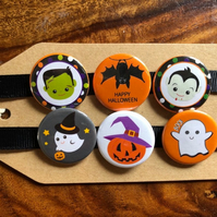 Halloween - Pin Badge Set or Magnet Set