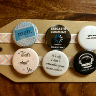 Mood - Pin Badge Set or Magnet Set