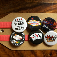 Las Vegas - Pin Badge Set or Magnet Set