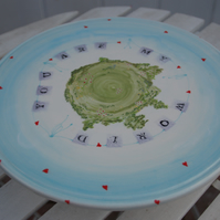 'You are my world' cake stand