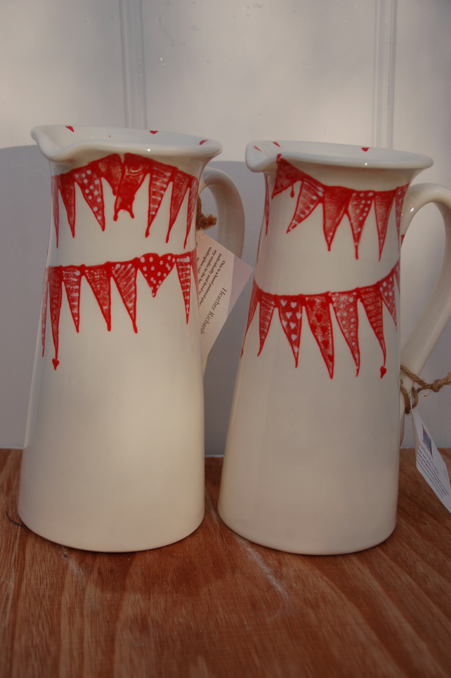 Love Bunting - tall jug