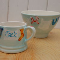baby bunting mug and bowl set