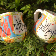 wedding Valentine fairy tale ending mugs