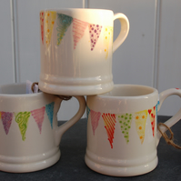 Endless Summer bunting mugs