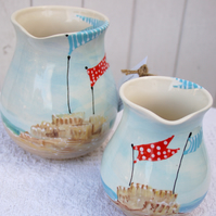half litre seaside jug, if you dream of sand dunes...