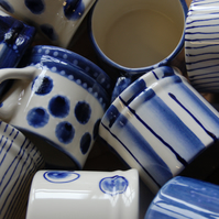 espresso mugs - mixed blue hybrids