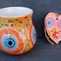 owl mug and heart