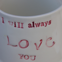 valentine 'I love you' mug