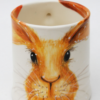 sunshine hare mug - handpainted