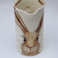 hare jug 2 pint hand painted