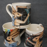 hare teacher bespoke mug