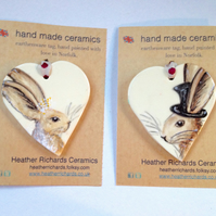 wedding hare hearts