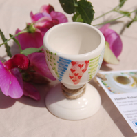 Endless Summer bunting egg cup