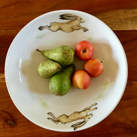 Running hare fruit bowl