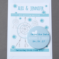 Dreamcatcher Design Save the Date Fridge Magnet Card