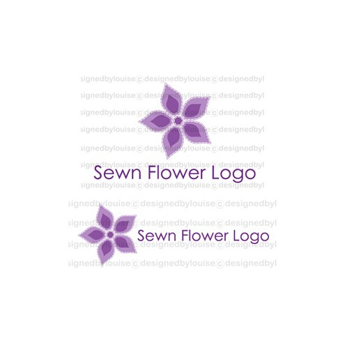 Pre-Made Logo, Online Shop Graphics, & Business Card Design - 'Sewn Flower'