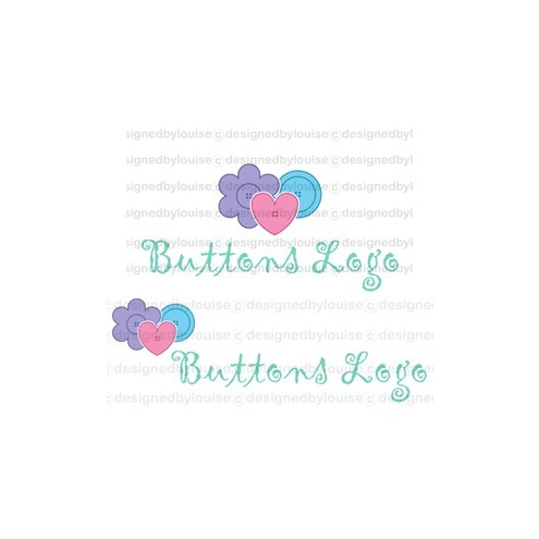 'Buttons' Pre-Made Logo, Online Shop Graphics, & Business Card Design