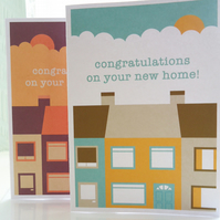 Personalised Terrace Street New Home Card