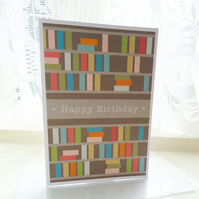 Personalised Bookshelf Birthday Card