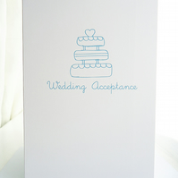 Wedding Acceptance Doodle Card