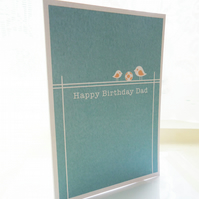 Personalised Dad Bird Birthday Card